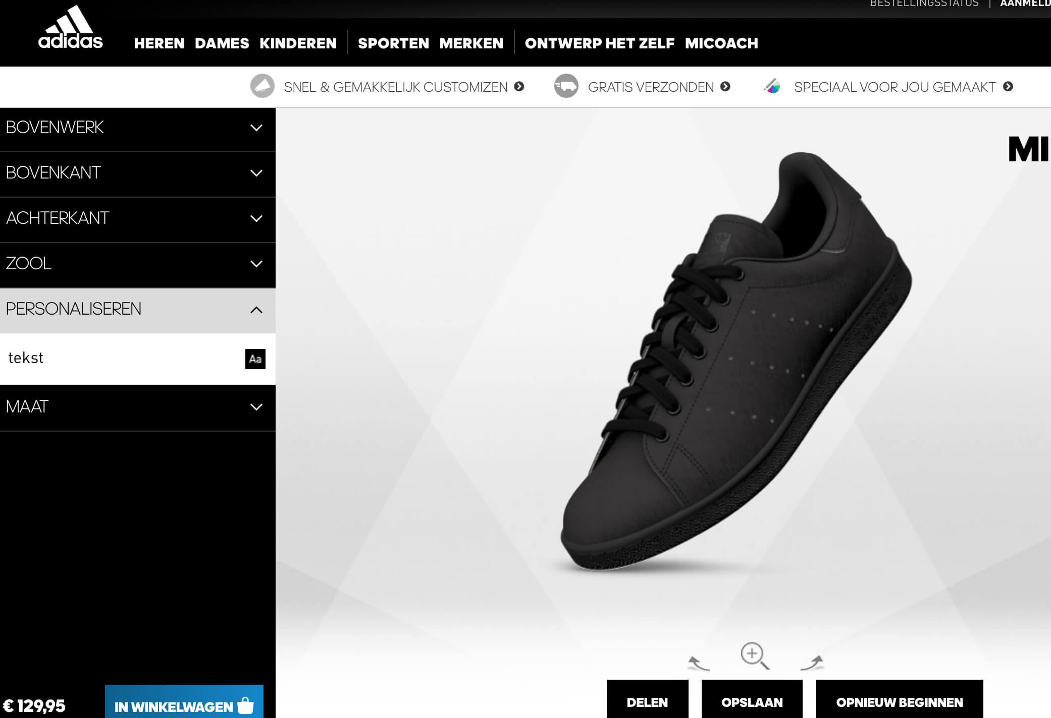 Adidas zelf ontworpen sneakers