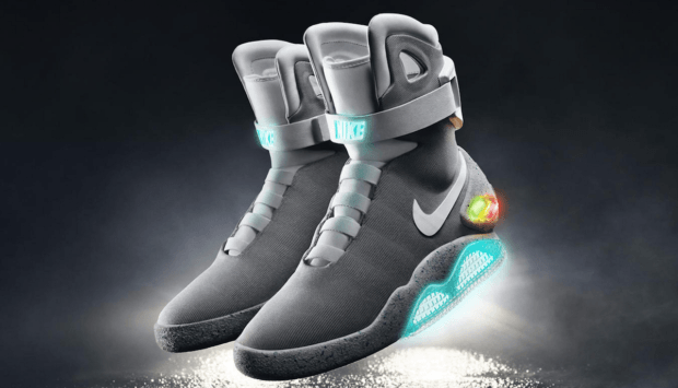 Back to the Future schoenen dit jaar in de schappen New