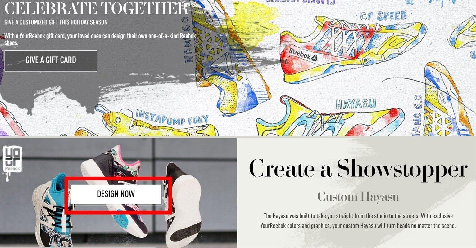 Reebok sneaker ontwerpen