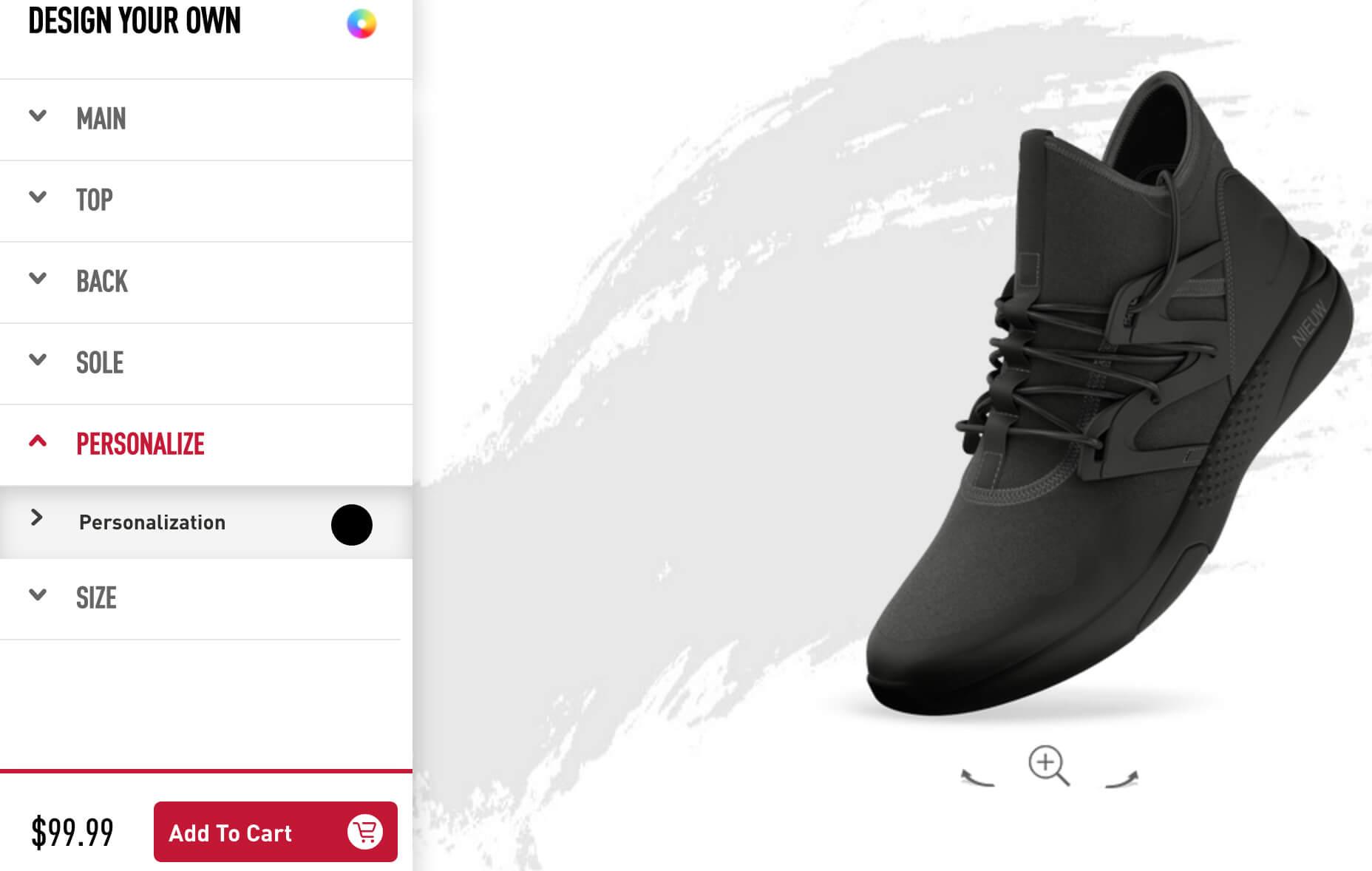 Zwart ontworpen reebok sneaker